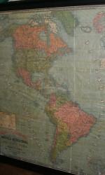 MAPA AMERICA 1898- 180X140 CM  enmarcado
