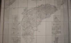 MAPA COELLO 1859-ALICANTE entelado