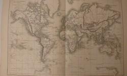 MAPAMUNDI DESCUBRIMIENTOS 1877