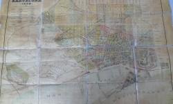 PLANO BARCELONA 1898 enmarcado