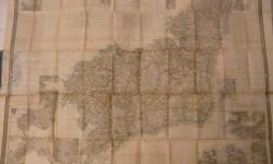 Mapa atlas Coello CORUÑA 1855 - 110 x80 cm