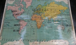 Mapa colegio planisferio 1935
