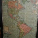 MAPA AMERICA 1898 -180X140 CM  enmarcado