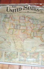 1900 wall map united states entelado- 1 x1 mts - 200 €