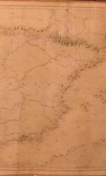 CARTA NAUTICA ESPAÑA año  1800 - 120x50 cm - 450 €