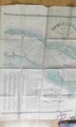 GRAN MAPA ISLA DE CUBA 1896  97X192 CM - 650 €