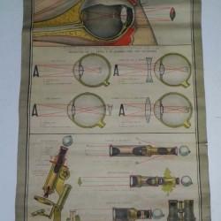 CARTEL ESCUELA VISION OJO HUMANO  1920 - 200 €
