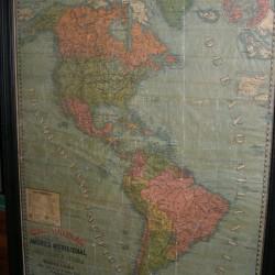 MAPA AMERICA 1898- 180X140 CM - 2.250 € enmarcado
