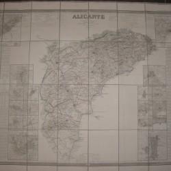 MAPA COELLO 1859 -ALICANTE 600 € ENMARCADO Y ENTELADO
