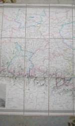 MAPA ENTELADO PIRINEOS 1890 -  300 €