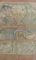 MAPA LONDRES 1856 , ENTELADO - 650 €