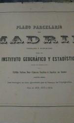 PLANIMETRIA MADRID 1875 -   1.800 €