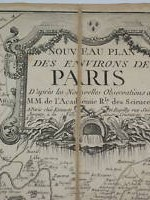carta antigua mapa paris y sus alrededores  1777  - 80x52 cms  ----  750 €