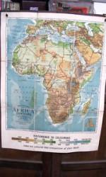 mapa africa 120 x100 , 1920 ,vegetacion -150 €