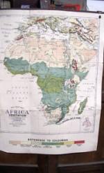 mapa africa 120x100 , 1920 - 150 €