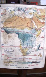 mapa africa 120x100 , 1920 ,isobaras - 150 €