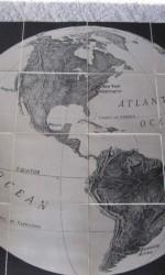mapa america wall map 1920 -  100x100 cm -  450 €