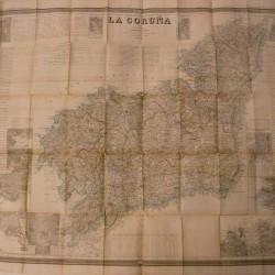mapa atlas coello CORUÑA 1855 - 110 x80 cm - 400 €