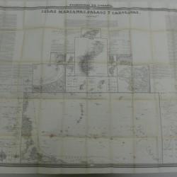 mapa atlas coello  islas marianas 1852 -110x80 cm - 400 €