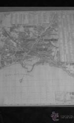 mapa callejero malaga  207 cm x79 cm , 1973  , 2ª edicion