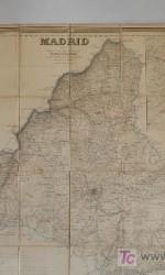 mapa comunidad de madrid 1853 , entelado , francisco coello  104x76 cm  entelado