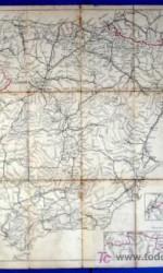 mapa croquis españa año 1896  entelado - 79x66 cm
