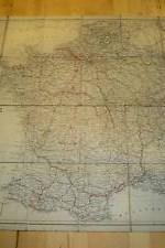 mapa entelado francia , murray `s  1890  --  240 €