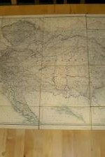 mapa entelado imperio austria  1880  - 80 x60 cm ----  300 €