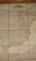 mapa españa entelado 1875 - 162 cmx 123 cm - 1.200 €