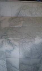 mapa europa 1853 ,  132x117 cm  --  800 €