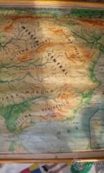 mapa fisico españa seix barral 1959 120x90 cm entelado