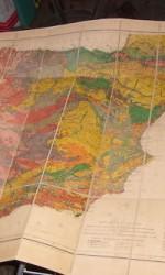 mapa geoligico españa 1888 entelado , 450 €