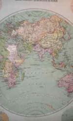 mapa hemisferio este 1912  1x 1 mts  ---  600 €