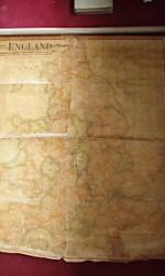 mapa inglaterra y gales 1901 entelado -  300 €