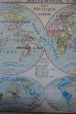 mapa mundi 1930  planisferio  1,20 x120 cm -- 300 €