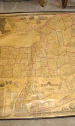 mapa new york  150 x140 cm  1860  smith¨s wall map -  1.800 €