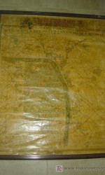 mapa original entelado nuevo ensanche valencia - año 1927   - 104x80 cm