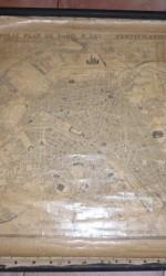 mapa paris 1850 entelado - 750 €