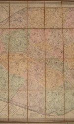 mapa paris 1860  entelado- 450 €