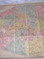 mapa paris 1889 --  400 €