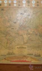 planisferio 100 x120 cm enmarcado  1889  ,  450 €