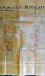 wall map pensylvania  entelado 125x100 cm -  250 €