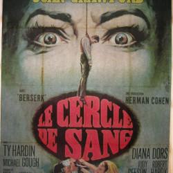 cartel original cine 160 cm x120 cm  1970 - le cercle de sang